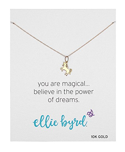 ellie byrd 10k Yellow Gold Unicorn Pendant Necklace, 16