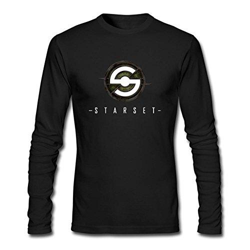 Men's Starset DIY Cotton Long Sleeve T Shirt