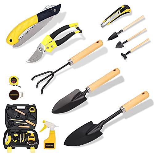 Kit de herramientas  de acero al carbono p/jardineria 13 uni