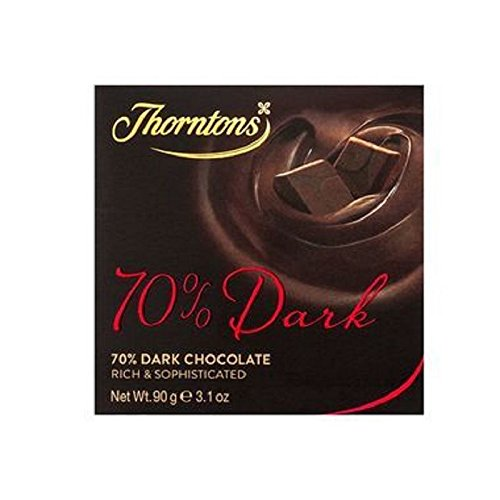 Thorntons 70% Deliciously Dark Chocolate Block (90g) (Pack of 2)