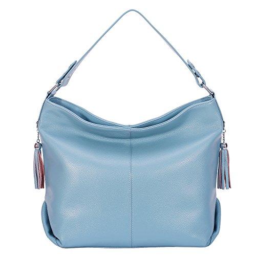 Vintage Ladies handle Purse Gray BIG SALE AINIMOER Body Top Tote Bag Leather Bags Cross Womens Blue Handbags Shoulder Large 7In0HWnT