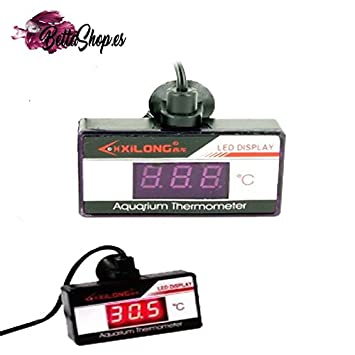 TERMOMETRO PARA ACUARIO DIGITAL LED TERMOMETROS DE ACUARIO TERMOMETRO ACUARIO: Amazon.es: Jardín