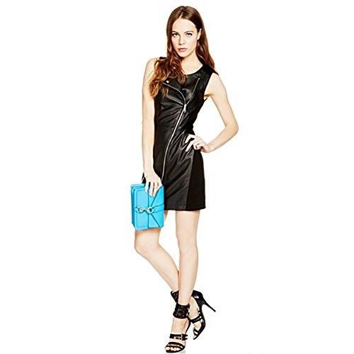 Rebecca Minkoff Moto Leather Dress Size 4 Black