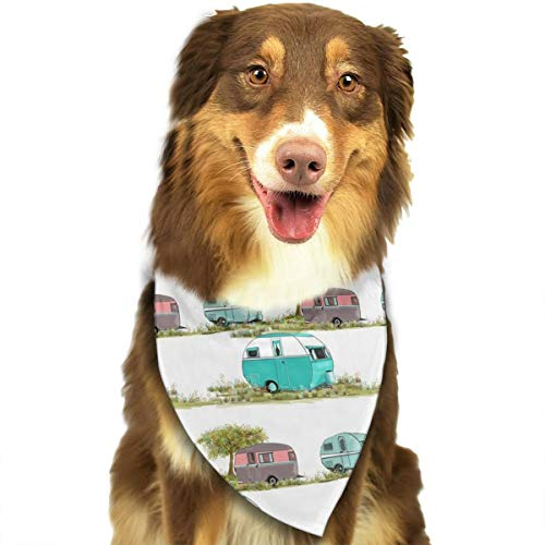 FRTSFLEE Dog Bandana Socks Lets Go Camping Retro Travel Trailers Scarves Accessories Decoration for Pet Cats and Puppies