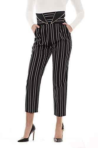 Mujer Pantalón Elisabetta Negro Para Franchi C4qzwRvg