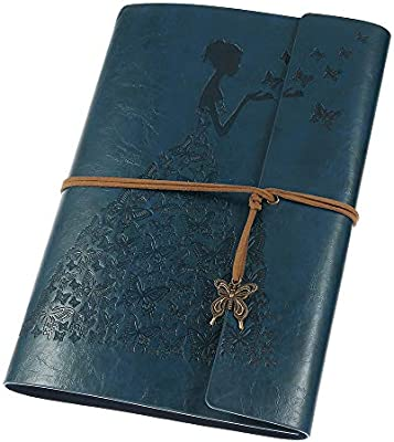 Leather Journal, MaleDen Vintage Spiral Bound Notebook Refillable Dairy Sketchbook Travel Journal to Write in with Blank Pages for Women Girls Gifts ...