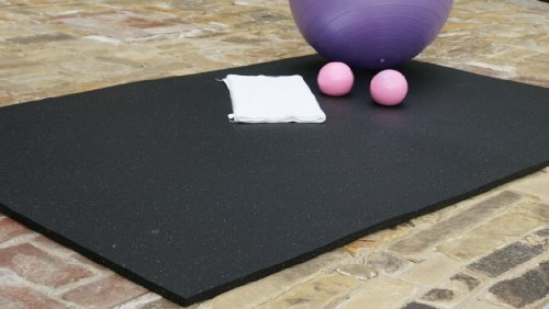 Rubber-Cal ''Shark Tooth'' Heavy-Duty Matting - 3/4-inch Thick Rubber Mats - Black - Made in the USA - 3/4 inch thick x 4ft x 6ft by Rubber-Cal (Image #6)