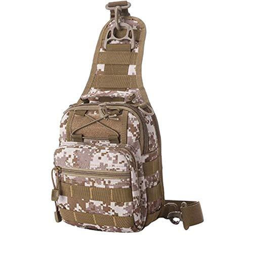 Tactical Sling Bag, Multi-Purpose Outdoor Chest Pack Shoulder Backpack Military Sport Bag, Multi-Pocket Fishing Suit Tactical Bags, for Trekking, Camping, Hiking (♥ - Creel Hook