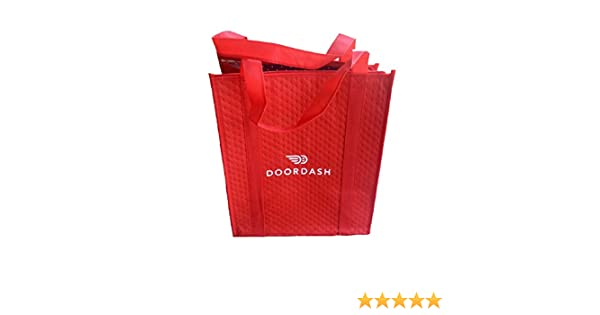 Doordash Red Insulated Large Shopping Tote For Groceries Food Delivery  Driver Bag