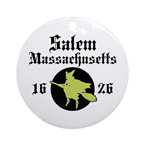 CafePress Salem Massachusetts Ornament (Round) Round Holiday Christmas