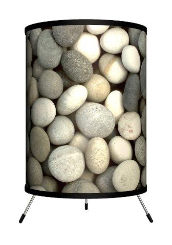 14 Tri Stone - Lamp-In-A-Box TRI-DEC-GREYS Decor Art - Grey Stones Tripod Lamp, 8
