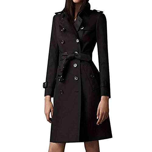 Orangeskycn Women British Double Breasted Slim Long Trench Coat Windbreaker with ()