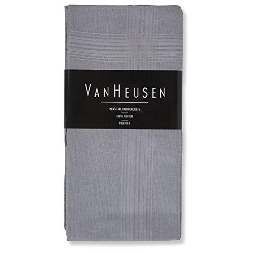 Van Heusen 6 pack Handkerchiefs (Grey)