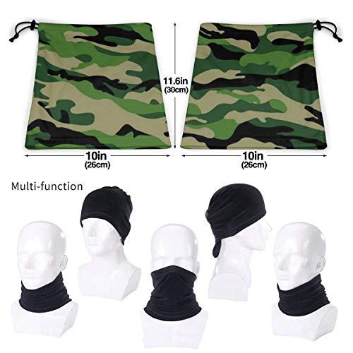 Belongtu Écharpe Military Pattern Headband Face Cover Bandana Head Wrap Scarf Neck Warmer Headwear Balaclava for Cold… 4