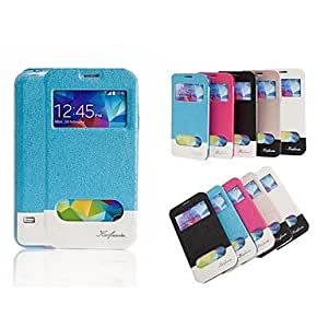 QJYB Special Design Good PU Leather Full Body Case Auto for Samsung S5 I9600(Assorted Colors) , Golden