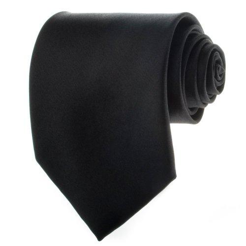 Black New Mens Solid Color Black (Pilot Tie)