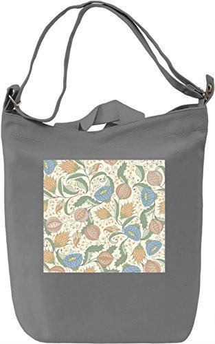 Light Colors Flowers Print Borsa Giornaliera Canvas Canvas Day Bag  100% Premium Cotton Canvas  DTG Printing 