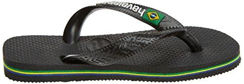 Havaianas Unisex-Kinder Brasil Logo Zehentrenner Schwarz (Black/Black)