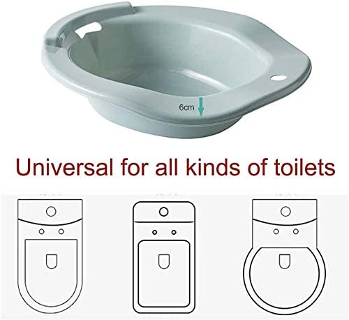 Bidet Einsatz f/ür Toilette Aiitllyna Bidet Bidetbecken,Sanit/ärbidet 100/% bruchsicher Ideale Sitzbadewanne Toiletteneinsatz f/ür Schwangere,blau