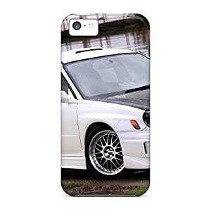 Tpu Shockproof/dirt-proof White 2002 Subaru Imprezza Wrx Cover Case For Iphone(5c) by Maris's Diary