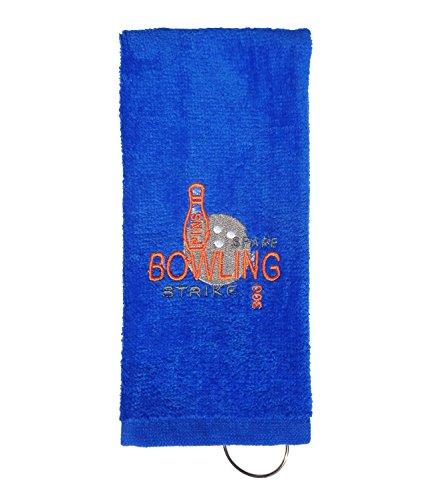 TravelNut Best Personalized Bowling Bowl Towel Men Women League Team Customized Fun Great Idea Idea for Dad Son Daughter Newlywed Guy Partner BAE Teacher (Royal Blue, ()