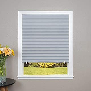 product image for Redi Shade Grey Room Darkening Cordless Pleated Shade (Actual: 36-in x 72-in)