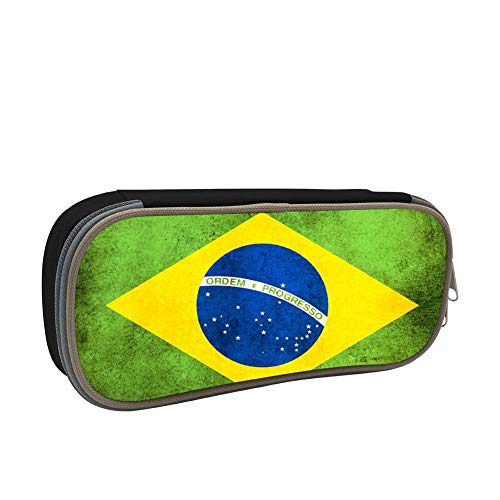 KEITH WRIGHT Zipper Pencil Case Brasil Flag Fashion Printed Pen Bags Students Pencil Holders Back to School Gift