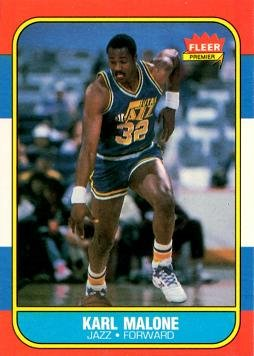 1986 Fleer Basketball Cards - 1986-87 Fleer Basketball #68 Karl Malone Rookie Card
