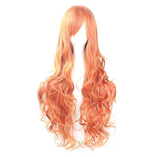 Girls Colorful Anime Cosplay Wig Women Fashion Loose Wave Long Curly Hair 80cm Harajuku Hair (Harajuku Girl Costumes)