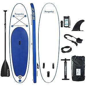41yuXiI 1 S. SS300 BATURU aufblasbares SUP Board, Stand-up Paddle Board, Sup Paddleboard 305 x 81 x 15 cm,iSUP Paket mit allem Zubehör