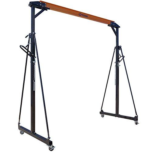 Titan Adjustable Gantry Crane - 1000 lb Capacity - Mobile Shop Crane