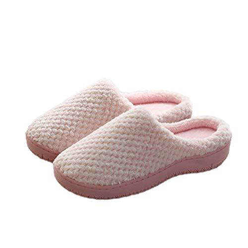 Winter Indoor Shoes Woman Warm Home Non-Slip Bedroom Floor Flat Flip Flops Casual Slip-on Cotton Slippers