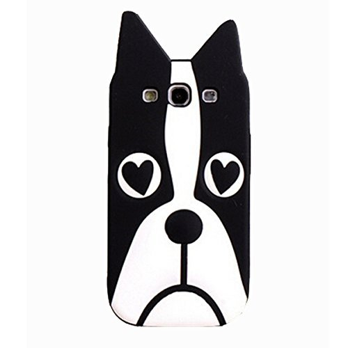 Samsung Galaxy S3 Case,Anya 3D Fashion Cute Flower Bow Ears Classic Cartoon Animal Soft Rubber Robot Silicone Back Shell Cases Cover Skin for Samsung Galaxy S3 S III SIII i9300 Lovely Dog Shape