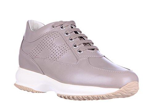 Hogan scarpe sneakers donna in pelle nuove interactive h bucata altraversione gr