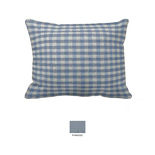 Patch Magic Fabric 27-Inch by 21-Inch Pillow Sham, Blue And Ecru Gingham Checks (Ecru Gingham Checks)
