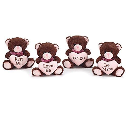 Burton & Burton Chocolate Valentine Bear Vase Hugger Set (Preston Chocolate)