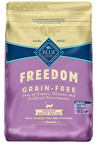 Blue Buffalo Freedom Grain Free Natural Indoor Adult Dry Cat Food, Chicken 11-lb.