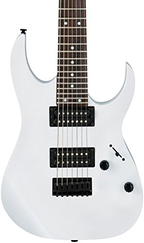 Ibanez GRG 7 String Solid-Body Electric Guitar, Right, White, Full ()