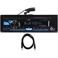 JVC KD-X240BT Car Digital Media Bluetooth Receiver, USB/Pandora/iPhone+Aux Cable