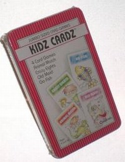 Kidz Cards 4 Card Games In A Tin - Animal Match, Crazy Eights, Old Maid, Go Fish - Jumbo Size (Pack of 2) (Go Fish Tin)