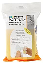 Medela Quick Clean Micro-Steam Bags WITH Breastpump & Accessory Wipes