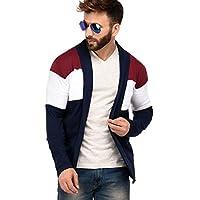 DENIMHOLIC Cotton Open Cardigan Full Sleeve Shrug for Men