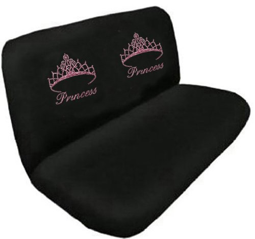 Amazon Pink Princess W Cute Crown Gem Crystal Studded Rhinestone Bling Car Truck SUV Rear Bench Seat Cover Automotive