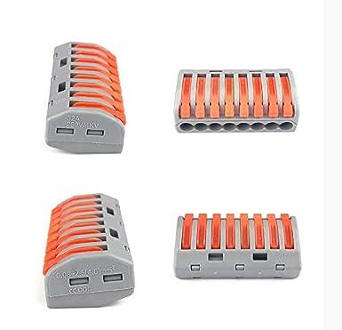 50 pi/èces 222 Bornes de connexion 4 conducteurs Bornes de connexion /à pince avec leviers de commande 222-412B