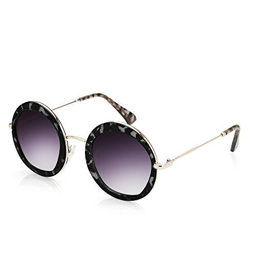 TWING Round Circle Fashion Designer Metal Sunglasses 10087 - Round Sunglasses Mens Designer