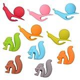 10pcs Silicone Tea Bag Holders Multi-color Snail