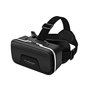 Best Epic Trends 41yubLiOYvL._SS300_ VR Headset, Pecosso 3D Virtual Reality Glasses Compatible with iPhone & Android Phone New Goggles for Movies Compatible…