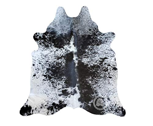 Black & White Cowhide - Salt and Pepper Black and White Cowhide Rug 6ft x 7ft 180cm x 210cm