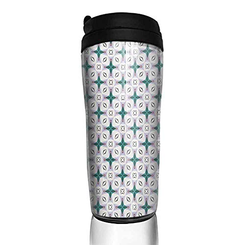 coffee cups with lids 16 oz Modern,Abstract Composition of Geometrical Shapes in Pastel Colors Contemporary Design,Multicolor 12 oz,best one cup coffee maker for seniors