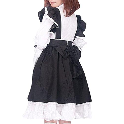 Gothic und Partiss Pink Langarm Layers Schwarz Lolita Victorian Suess Kleid Damen Weiss Multi Frauen w78qxI7